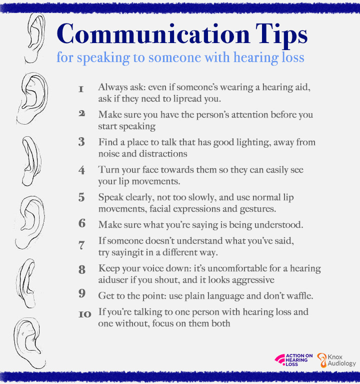 Communication tips for helping someone with healing loss