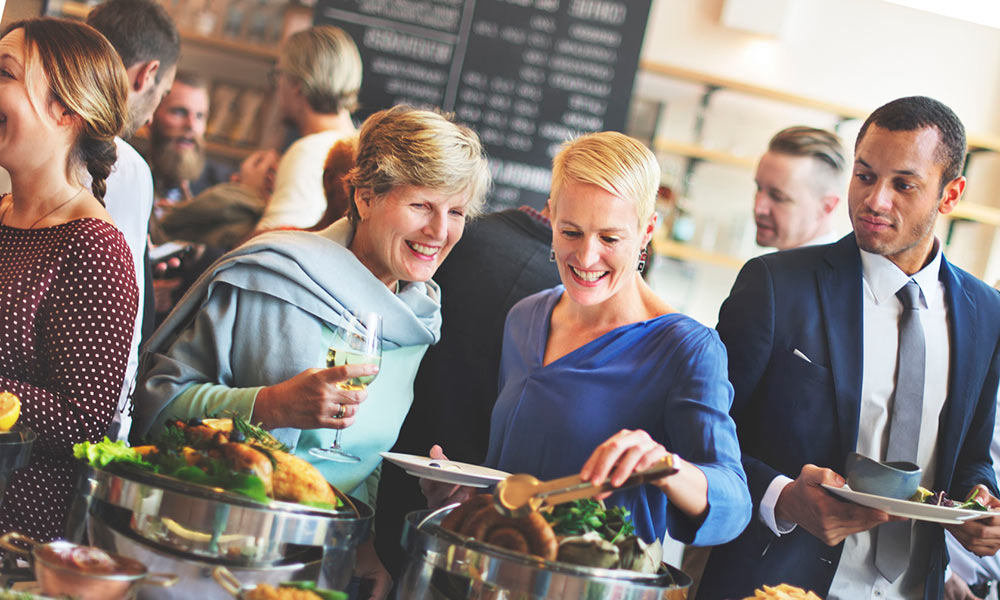 Hearing aids help communication at a restaurant
