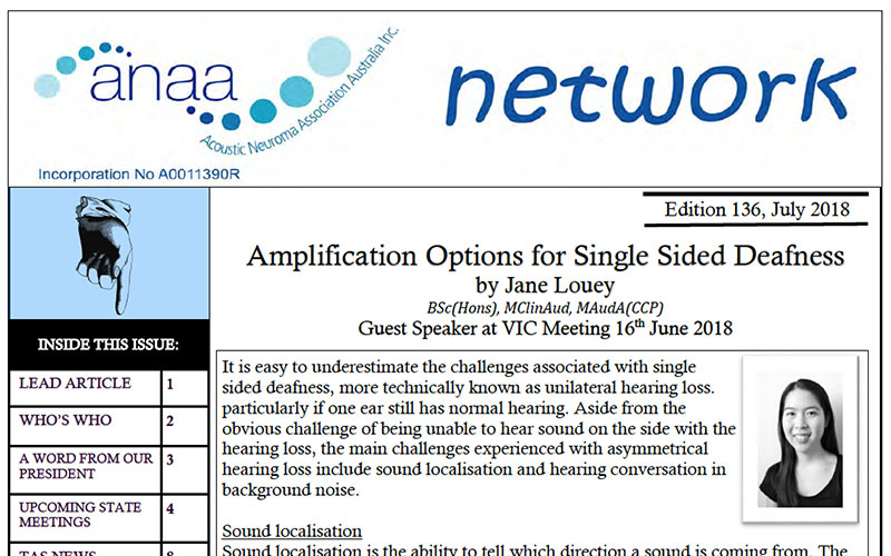 Amplification Options for Single Sided Deafness